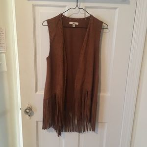 Like new suede fringe vest